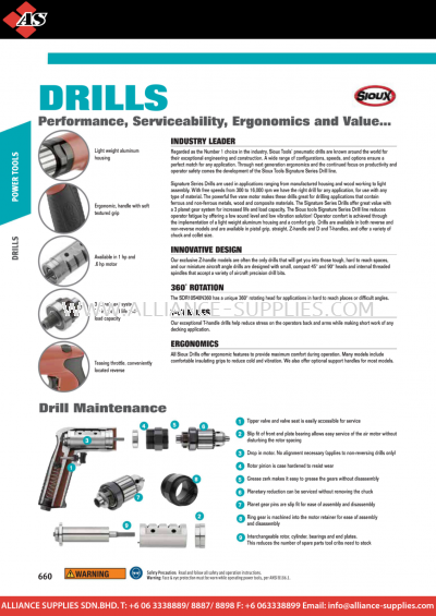 1.21.1 WILLIAMS SIOUX Tools - Drills