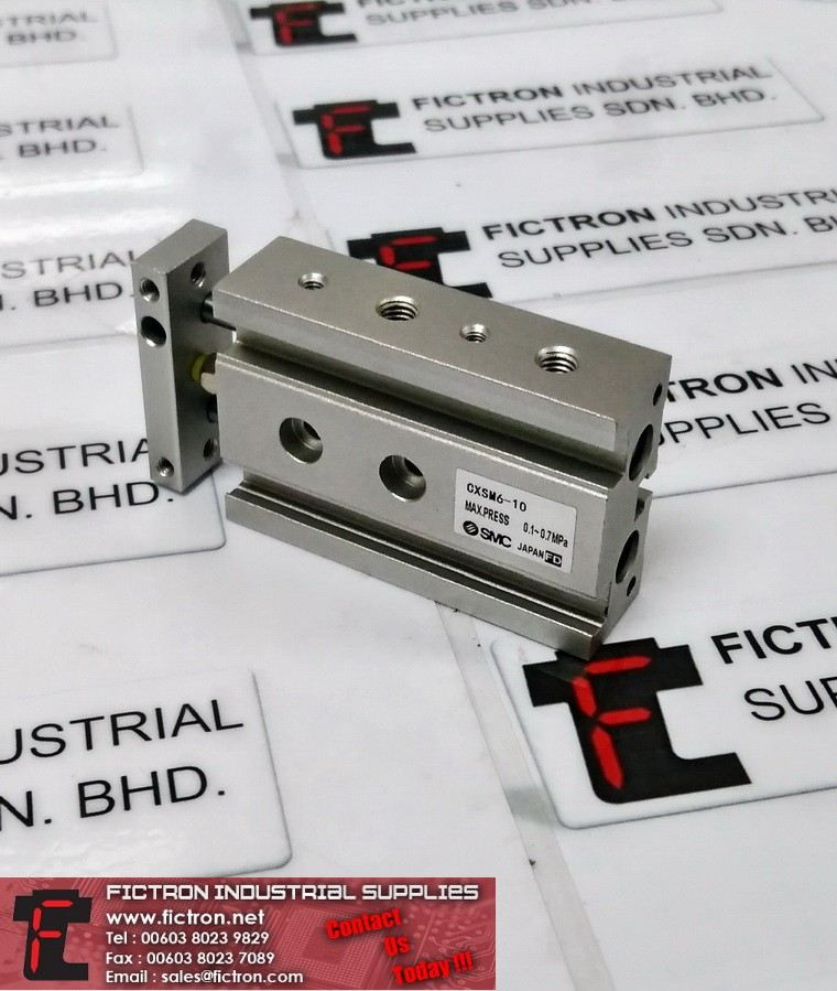 CXSM6-10 CXSM610 CXS GUIDED CYLINDER  Supply,By Fictron Industrial Supplies COMPACT CYLINDER Pneumatics