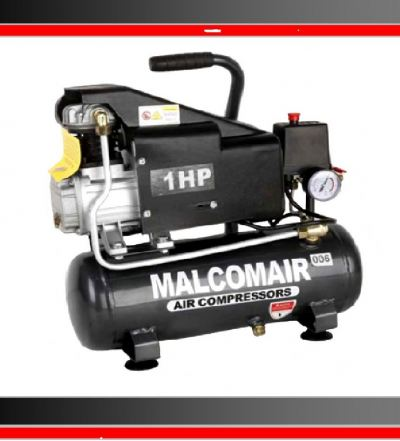 Malcomair MAL-1009 1hp 9L 8Bar Poratble Air Compressor