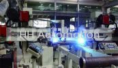 Pipe - Flange Automatic Welding System Pipe to Flange Welding Stations Pipe Prefabrication System