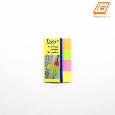 Scnipti - Neon Page Marker Removable Sticky Notes - (07847)