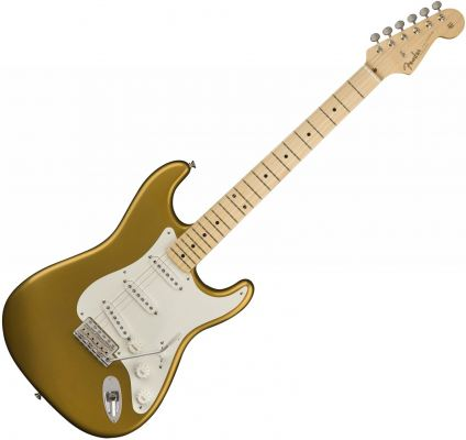 Fender American Original 50s Stratocaster Electric Guitar, Maple FB, Aztec Gold