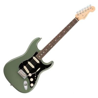 Fender American Professional Stratocaster Electric Guitar, Rosewood FB, Antique Olive
