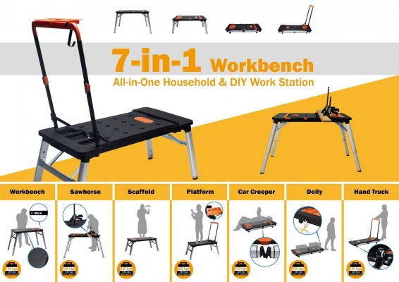 7in1 Work Bench (All in one household & DIY Work Station) ID31127