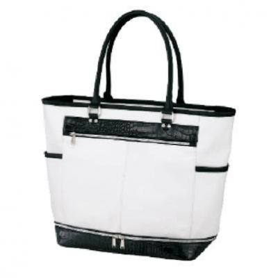 PU DOUBLE (2-STAGE) TOTE BAG COLOR WHITE