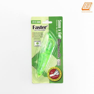 FASTER - Correction Tape Retractable - 5mm x 6m - (CT-F-608)