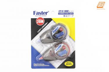 FASTER - Value Pack Correction Tape Last Longer - 5mm x 20m - (CT-F-208-2)
