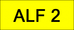 Number Plate ALF2 VVIP Plate