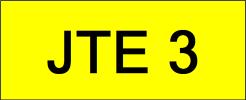 Number Plate JTE3 VVIP Plate