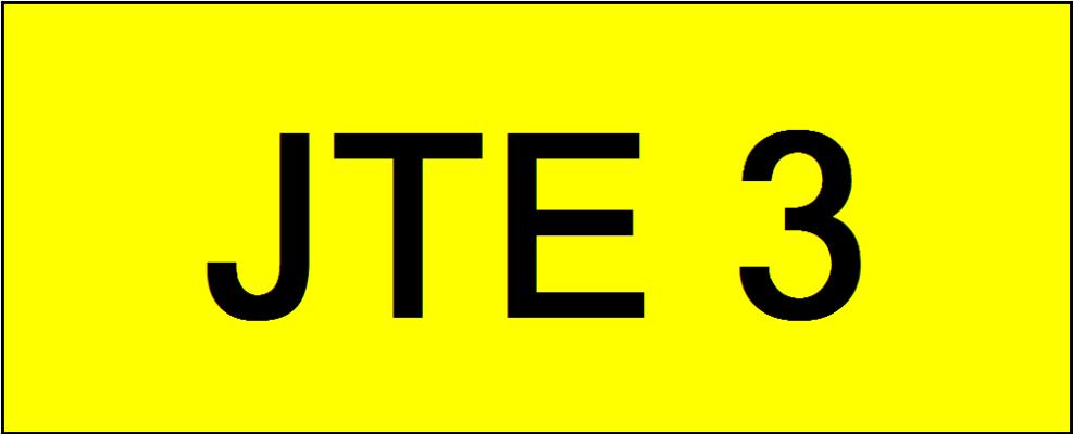 Number Plate JTE3