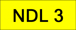 Number Plate NDL3 VVIP Plate