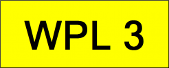 Number Plate WPL3 VVIP Plate