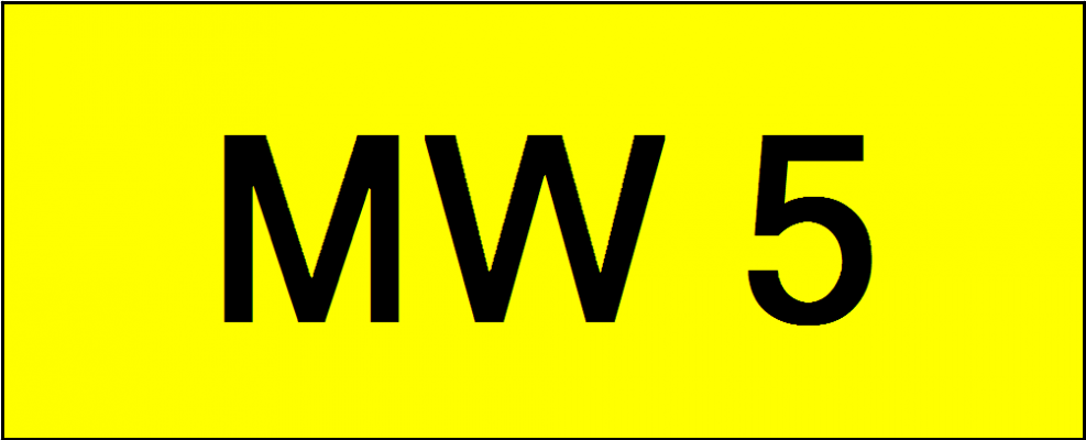 Superb Classic Number Plate (MW5)