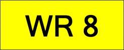 Number Plate WR8 Superb Classic Plate