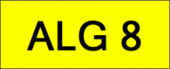 VIP Nice Number Plate (ALG8) All Plate