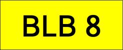BLB8 VVIP Plate