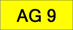 Number Plate AG9 Superb Classic Plate