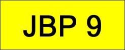 JBP9 VVIP Plate