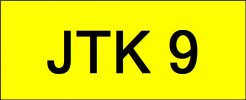 VIP Nice Number Plate (JTK9) All Plate
