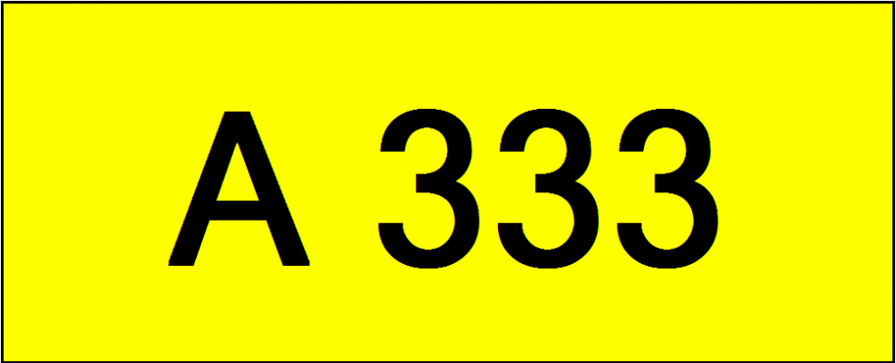 Number Plate A333