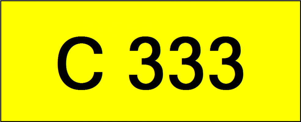 Number Plate C333