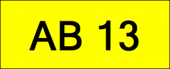 Number Plate AB13 Superb Classic Plate