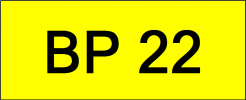 Number Plate BP22 Superb Classic Plate