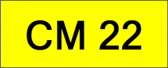 Number Plate CM22 Superb Classic Plate