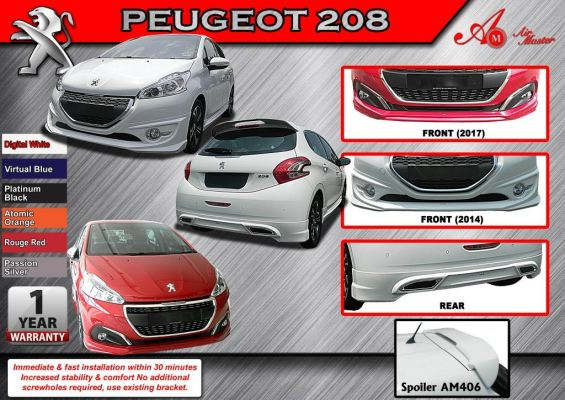 Peugeot 208 facelift AM Style Bodykit