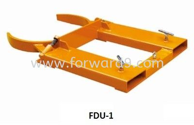 FDU-1 Forklift Single Drum U-Gripper  Forklift Drum Attachment  Drum Handling Equipment  Material Handling Equipment