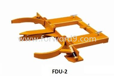 FDU-2 Forklift Double Drum U-Gripper  Forklift Drum Attachment  Drum Handling Equipment  Material Handling Equipment