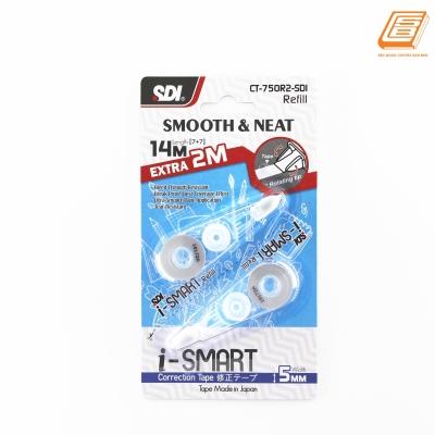 SDI - I-Smart Correction Tape Refill - 5mm x 14m (7+7) -  (CT-750R2-SDI)