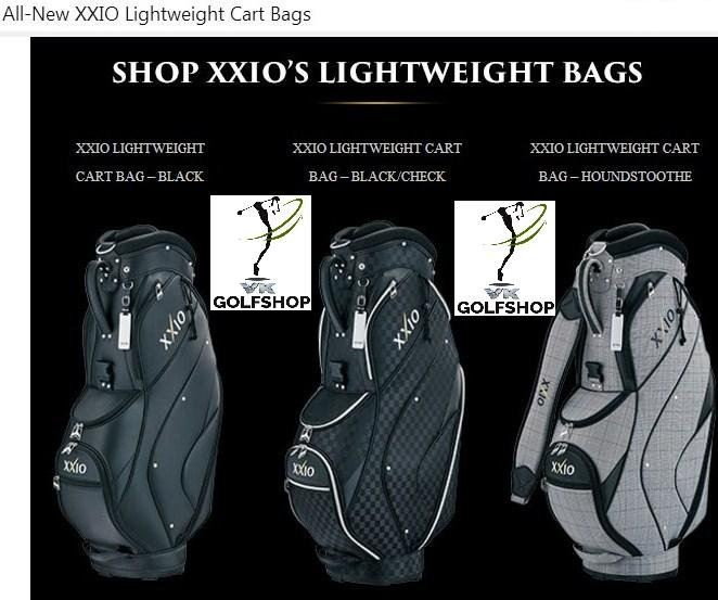 All-New XXIO Lightweight Cart Bags at VKGolf - The No Retailer for XXIO Products since 1988!