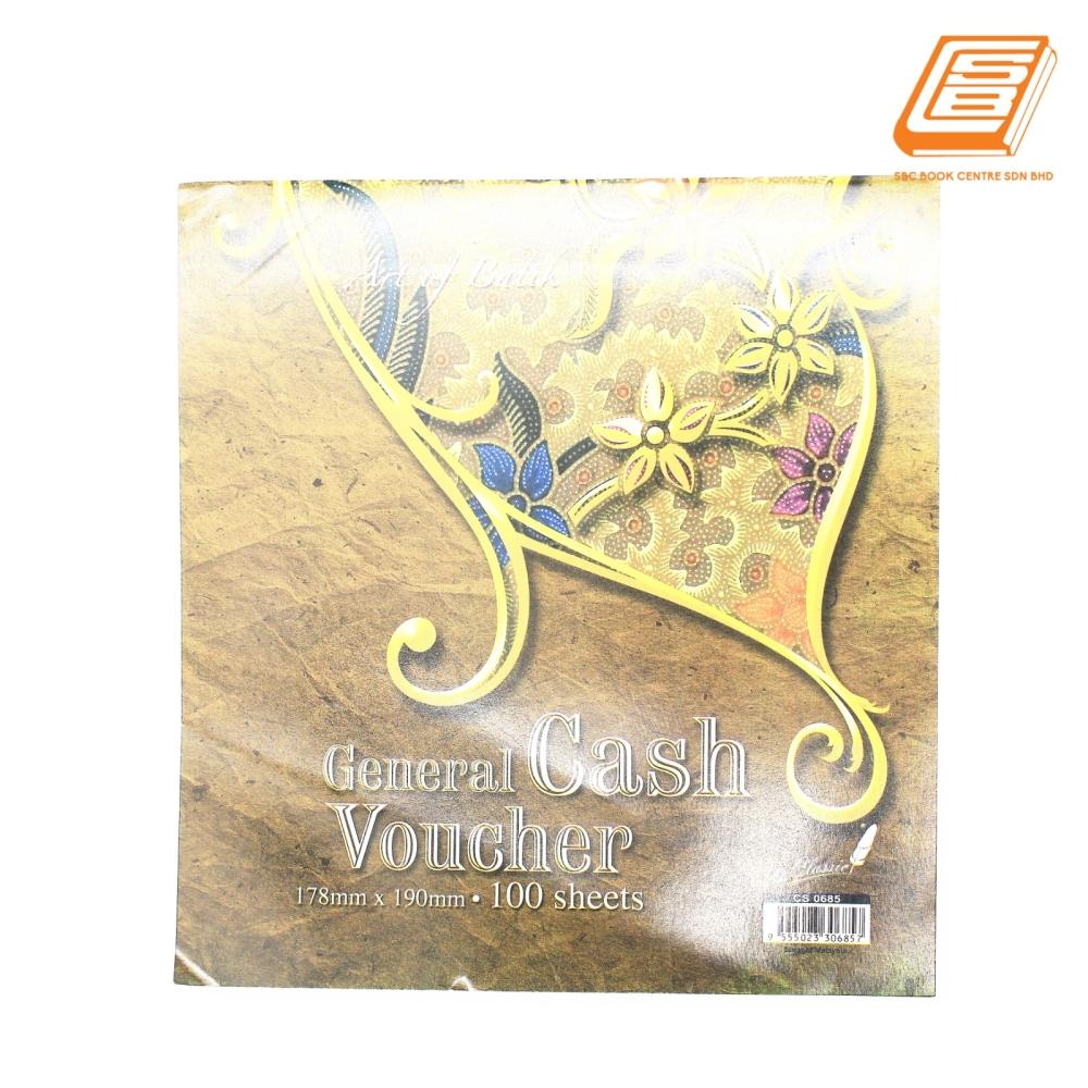 Up - General Cash Voucher 1ply -  100s , 178mm x 190mm -(0685)