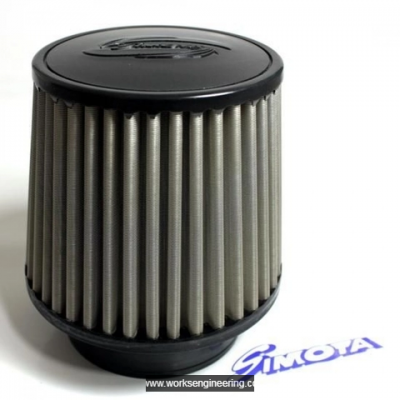Simota Urethane Stainless Steel Air Filter-Neck size 101mm, width : 151mm , height : 125mm (4'')