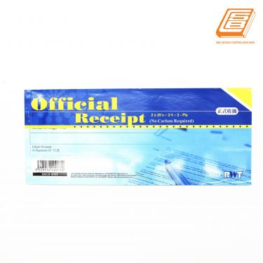 RWT - NCR Official Receipt 2 ply - 2 x 25 set , 93mm x 220mm -(5016)