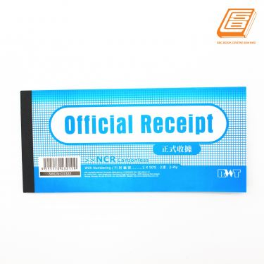 RWT - NCR Official Receipt 2 ply - 2 x 50 sheets , 88mm x 200mm -(07322)