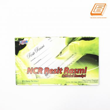ABC - NCR Official Receipt 2 ply - 2 x 25sheets , 200mm x 90mm -(350)