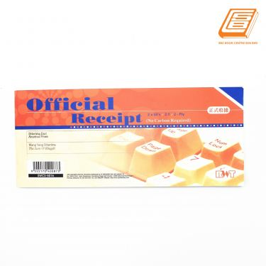 RWT - NCR Official Receipt 2 ply - 2 x 50 set , 94mm x 220mm -(5016)
