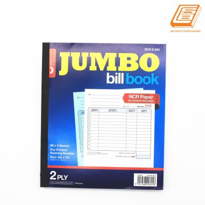 Unicorn - NCR Bill Book 2ply - 2 x 80set , 152mm x 178mm -(02825)