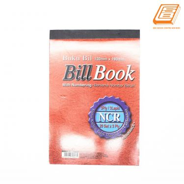 UP - NCR Bill Book 3ply - 3 x 20 set , 130mm x 190mm- (0647)