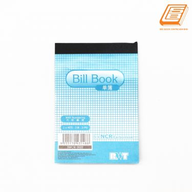RWT - NCR Bill Book  2ply - 2 x 40 set , 88mm x 126mm   -(3522)