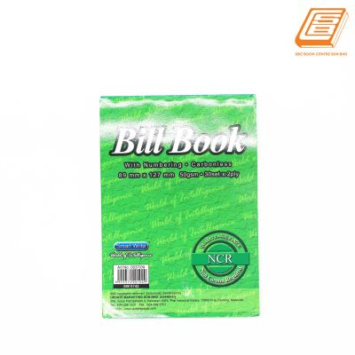 SW - NCR Bill Book 2ply - 2 x 30 set , 89mm x 127mm    -(0742)