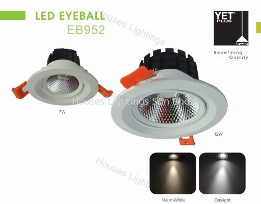YET EB952 7W 12W WH DL/CW/WW LED