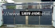 S238 Open Gate And Aluminium and Tempered Glass Stainless Steel