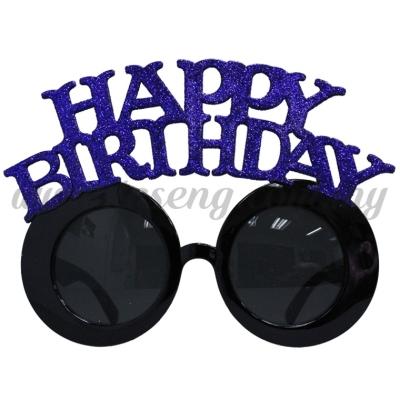 Sunglasses Happy Birthday Glitter - Blue (DU-SGHB-02B)