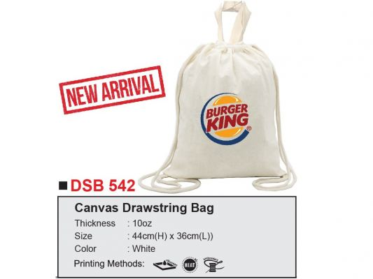 DSB542 Canvas Drawstring Bag