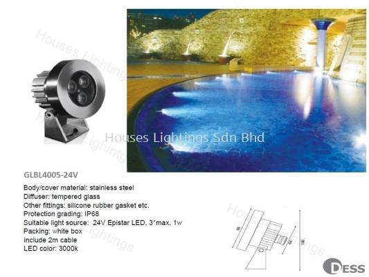 DESS GLBL4005-24V (3X1W) WW IP68