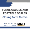 Closing Force Meters Closing Force Meters Force Gauges and Portable Scales HKM MESSTECHNIK