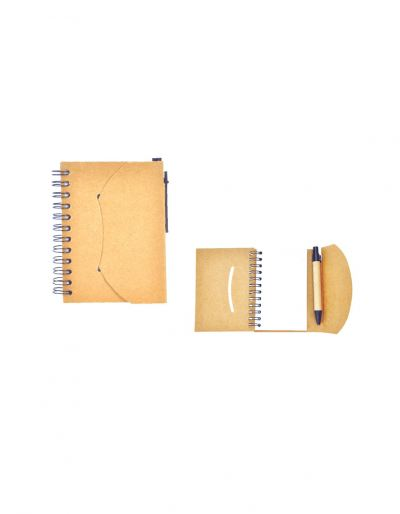 ENB104 Eco Notebook With Pen Pocket Size